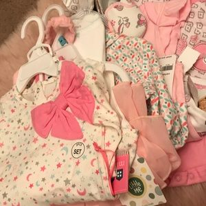 NWT baby girl 6m 5 outfit lot 11 pieces!